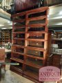 antique elastic, sectional mahogony Globe Wernicke corner bookcase  SOLD