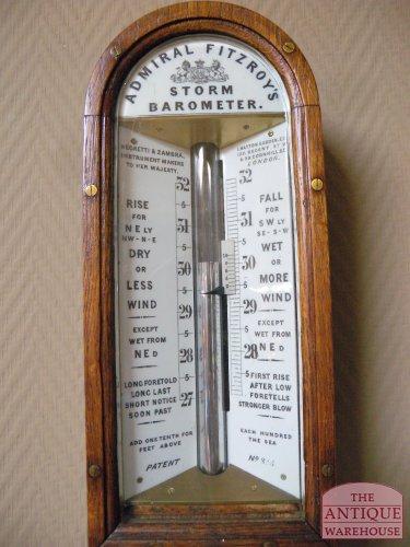 storm barometer eiken kast