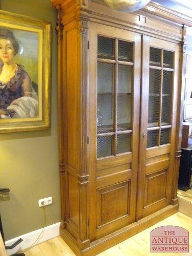 antieke eiken Hollandse boekenkast