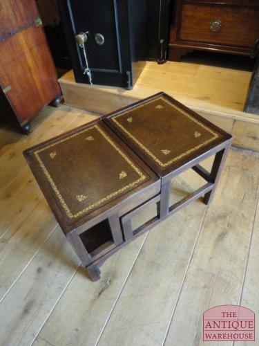 antiek Engels bibliotheek trapje