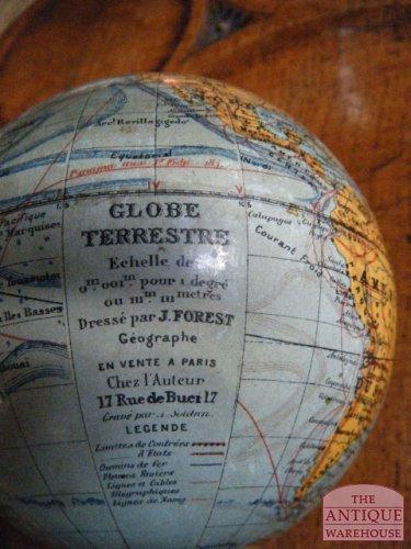 antieke Franse kleine globe