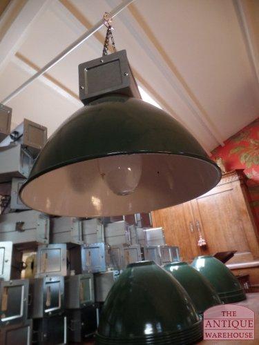retro vintage fabrieks lamp
