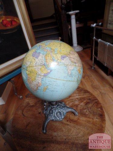 antique globe Rand Mc Nally
