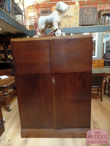 antique oak compactom in top condition