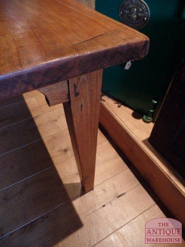 antieke Franse kastanje houten tafel