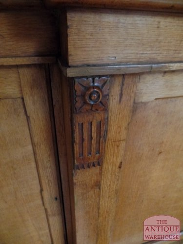 antiek eiken ornament van Engelse boekenkast