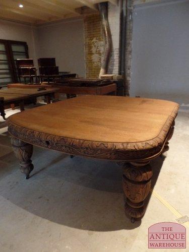 eiken antieke tafel kleinste stand