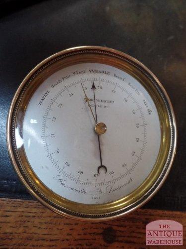 antieke messing barometer