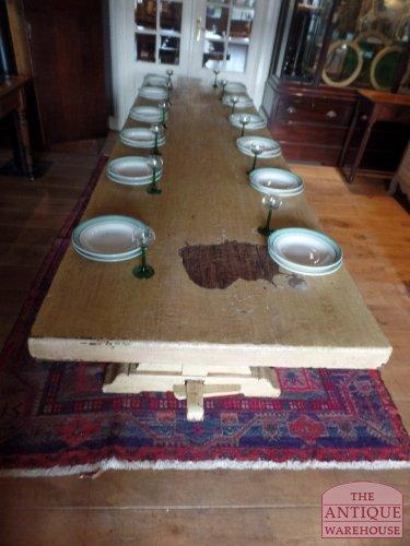 originele antieke eiken tafel