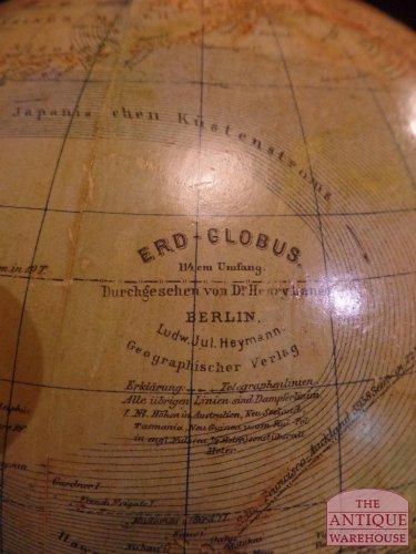 erd globus Ludwig Julius Heymann