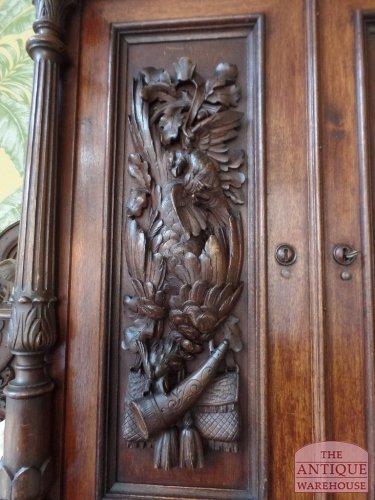 antiek hout snijwerk