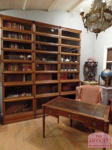 oak library Globe Wernickee bookcases