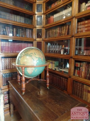 top condition antique library globe