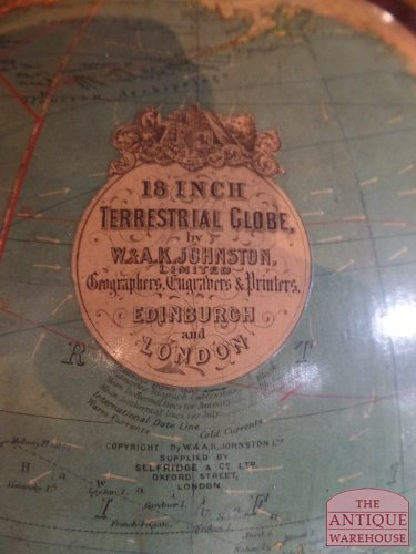 18 inch antique library globe