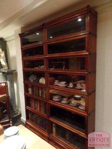 antieke mahonie stapelbare originele antieke boekenkasten