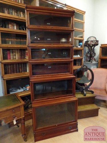 antieke mahonie Globe Wernicke boekenkast