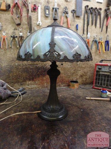 USA antique panel lamp