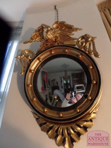 antique Regency butler miror