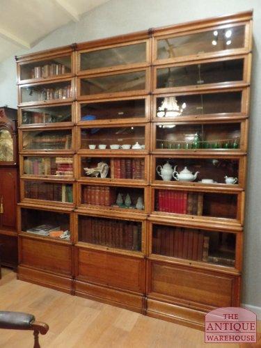 original circa 1890 antique restored Globe Wernicke bookcases