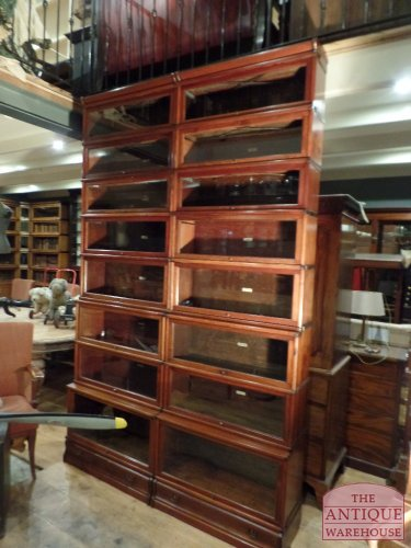 antique original sectional mahogony Globe Wernicke bookcases