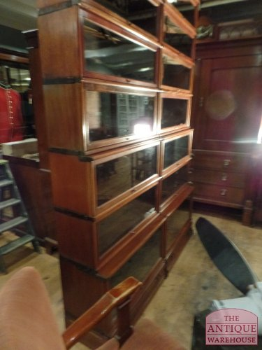 Waterfall Globe Wernicke bookcases