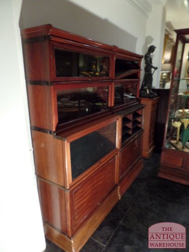 deep sections Globe Wernicke bookcases