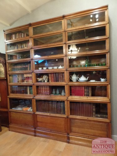 lovely top restored antique Globe Wernicke bookcases
