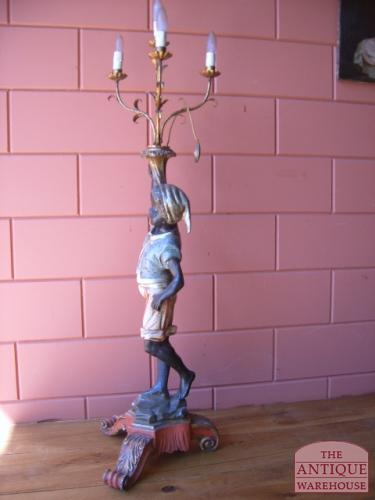 antieke black a moor lamp