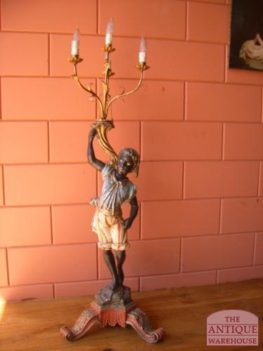 antieke blacka moor lamp